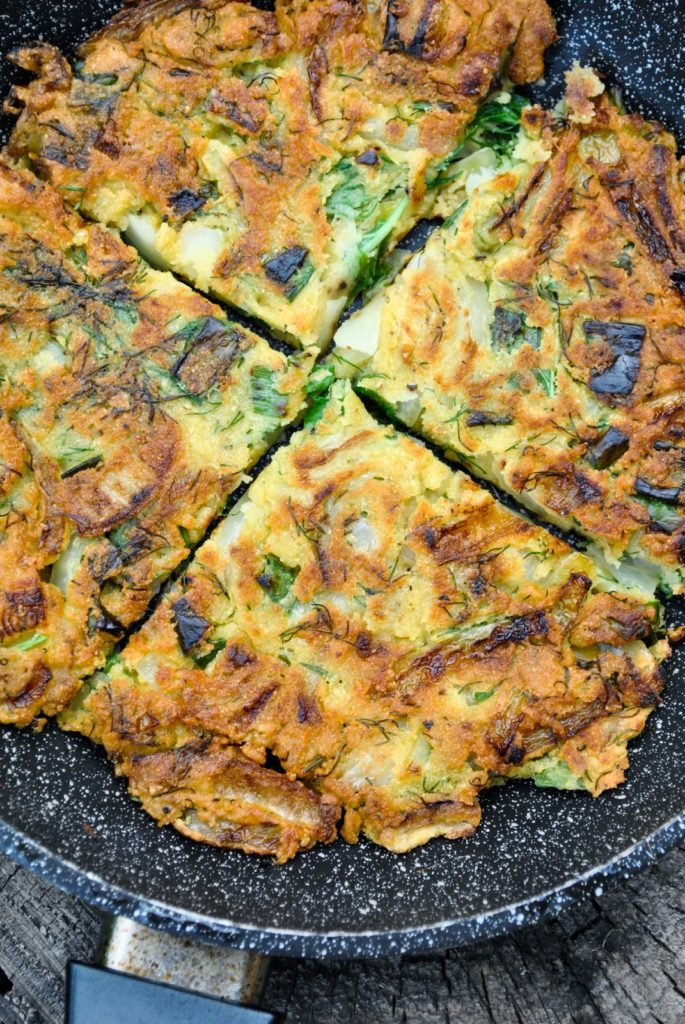 omelette vegetalienne aux pois chiches